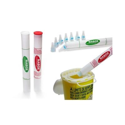 4 tubi contenenti aghi di insulina