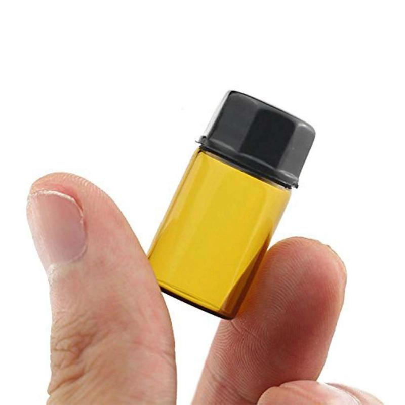 Botella de vidrio ambar rellenable 3 ml