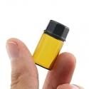 Mini frasco de vidro âmbar recarregável de 3 ml