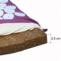 Colcha de acupressão, fibra de coco